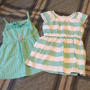 2 dresses~Stripes and flowers~